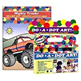 Do A Dot Art Marker Rainbow 6-pack Activity Book Gift Set - Mighty Trucks