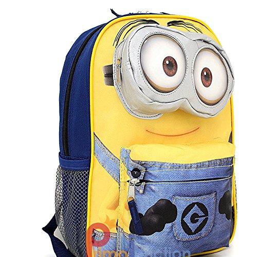 Despicable-Me-Minion-Large-School-Backpack-16-Bag-3D-eye-Pocket