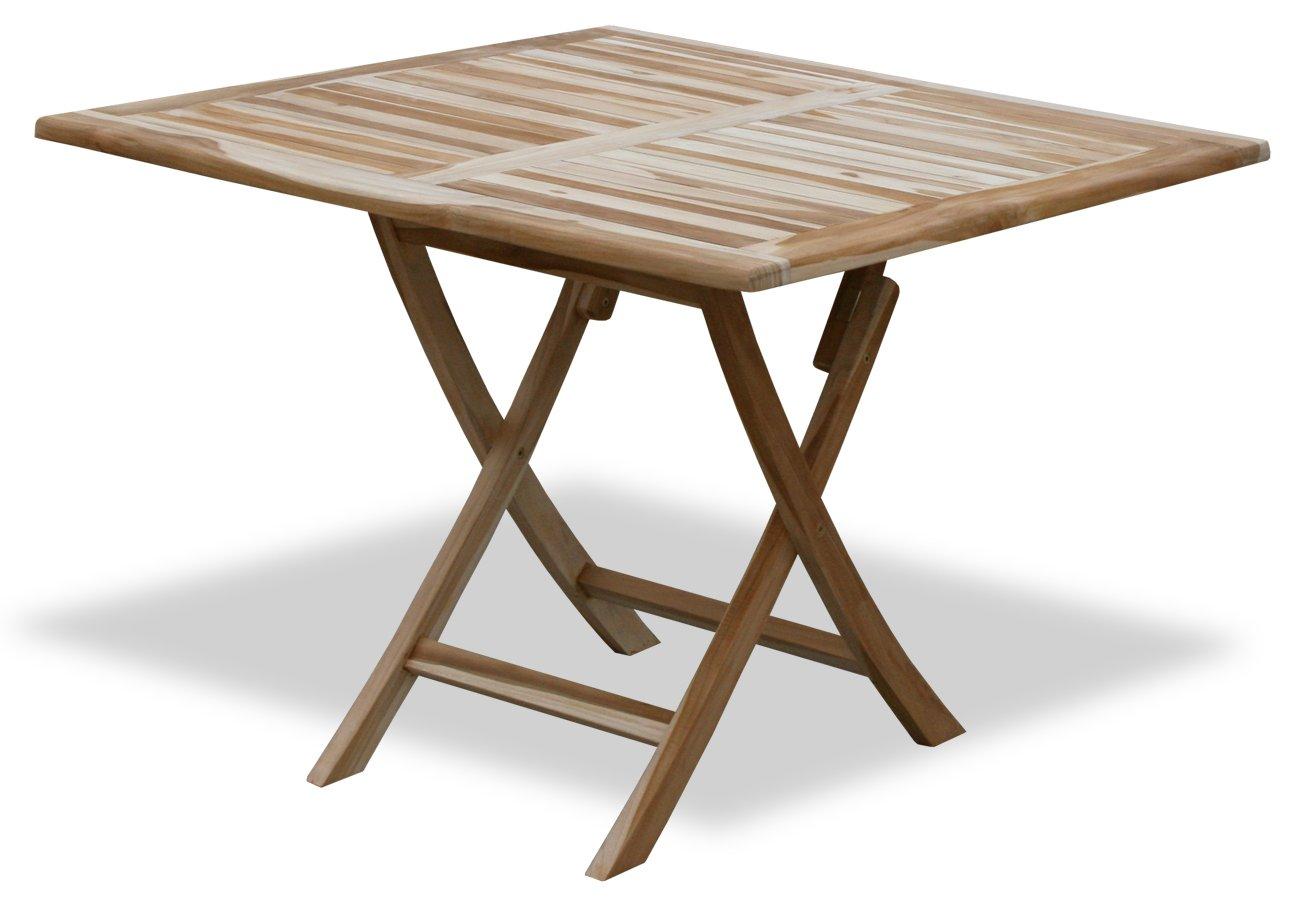 KMH®, Klapp - Tisch aus echtem Teakholz (100 x 100 cm) (#102054)