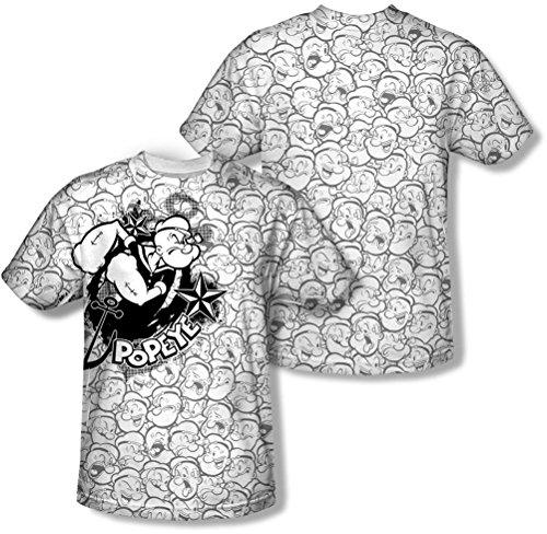 Popeye, da uomo, motivo: maglietta di Popeye Bianco bianco