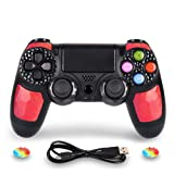 PS4 Controller DualShock 4 Wireless Controller for Playstation 4 - OUBANG PS4 Remote Control with Charging Cable,Best PS4 Game Joystick Gift for Christmas,Brithday (Ruby) (Color: Ruby)