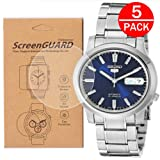 [5-Pack] for Seiko SNK793 Watch Screen Protector,Full Coverage Screen Protector for Seiko SNK793 Watch HD Clear Anti-Bubble and Anti-Scratch