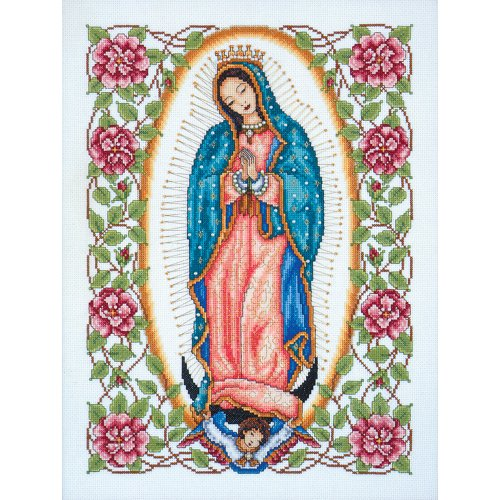 Tobin Caliente Our Lady Of Guadalupe Counted Cross Stitch Kit