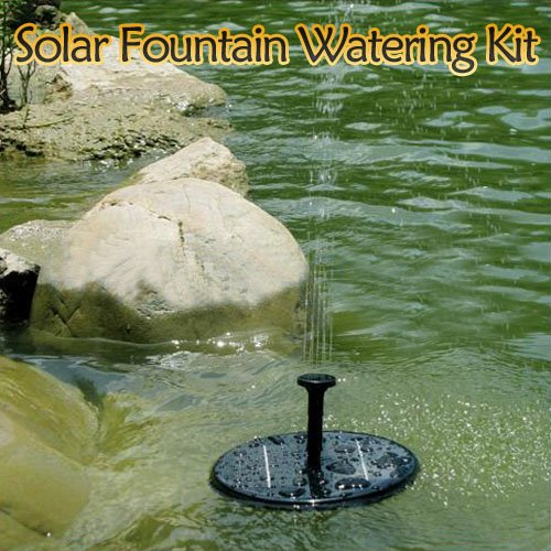 New Solar Panel Power Fountain Pond Pool Water Pump Garden Plants Watering Kit By Buyincoins
