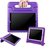 BMOUO Case for iPad 2/3/4 - Kids Case ShockProof Convertible Handle Light Weight EVA Super Protective Stand Cover for iPad 4, iPad 3 & iPad 2 2nd 3rd 4th Generation, Purple (Color: Purple)