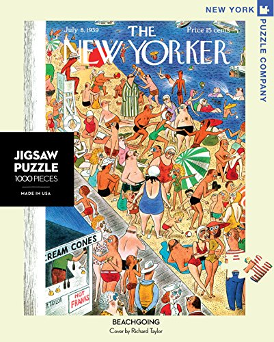 New York Puzzle Company - New Yorker Beachgoing - 1000 Piece Jigsaw Puzzle (New York Puzzle Company 1000 compare prices)