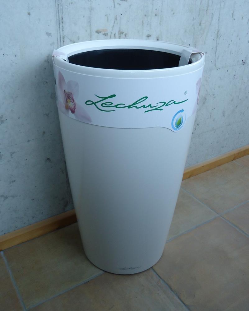 Lechuza Premium Rondo 32cm High Gloss White Self Watering 56cm Tall Planter Ebay