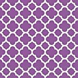 Purple Quatrefoil Party Napkins, 16ct