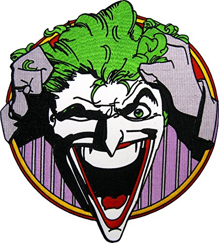 Large Joker Pulling Hair Laughing Back Patch / Applique