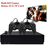 Anbernic Retro Game Console, Entertainment System HD Video Game Console 32GB 800 Classic Games 4K HDMI TV Output with 2PCS Joystick for a Great Gifi for Game Player (Black) (Color: Black)