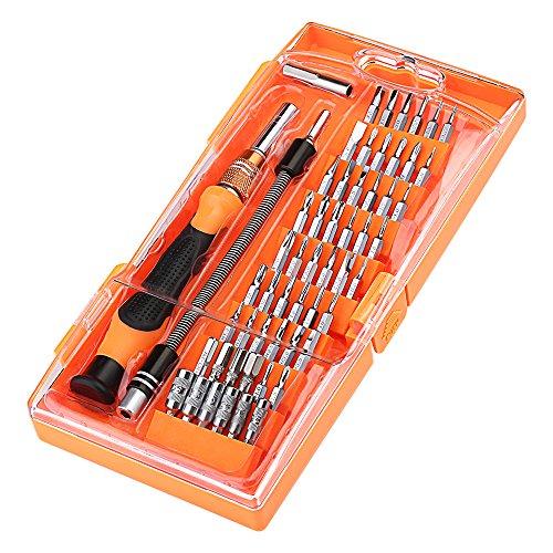 Topop 58 in 1 Magnetico con 54 Bit Driver Kit, Cacciaviti di Precisione Set di Telefono Cellulare, Tablet, PC, MacBook, Elettronica Tool Kit di Riparazione