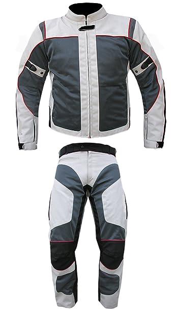 AZ Importers Combinaison de moto en Cordura 100% imperméable pour homme et femme 2 pièces Disponible dans toutes les tailles