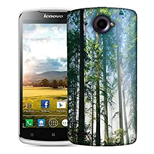 Snoogg Long Trees Designer Protective Phone Back Case Cover For Lenovo S920