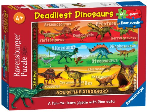 Ravensburger Deadliest Dinosaurs Giant Floor Puzzle (60 Pieces)