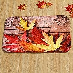Unique cmXcm Maple Leaf Door Mat Floor Pad Rectangle Rug Carpet Fall Scene Soft
