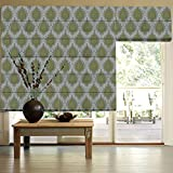 Presto Bazaar Green Abstract Jacquard Window Blind (48 Inch X 44 Inch)