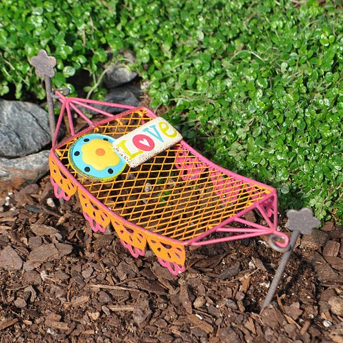 Miniature Fairy Garden Lacy Hammock