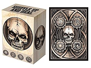 100 Dead Man's Hand Deck Protectors & Deck Box Combo Set Legion Supplies Matte Finish Sleeves 2-Packs - Standard Magic the Gathering Size