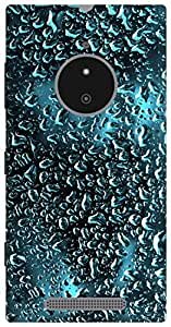 The Racoon Grip water glass hard plastic printed back case / cover for Nokia Lumia 830