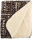 ASPCA Typography Pet Throw Blanket, Brown