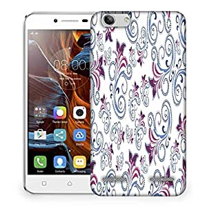 Snoogg Abstract White Pattern Designer Protective Phone Back Case Cover For Lenovo K5 Vibe