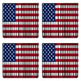Liili Natural Rubber Square Coasters 4 Pieces Per Order Image Id: 13816682 Usa America Flag On Curtain