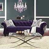 Furniture of America Wellington Premium Fabric Sofa - Purple - IDF-2222-SF