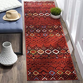 "Safavieh Amsterdam Collection AMS108D Southwestern Bohemian Terracotta and Multi Runner (23"" x 12)"
