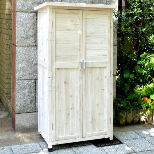木製収納庫 Potager(ポタジェ) ハイタイプ(高さ150cm×幅80cm×奥行き50cm) ウォッシュホワイト WS-1500WHT