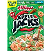 【Kellogg's】ケロッグ 朝食用シリアル アップルジャックス(アップル&シナモン味のシリアル) 345g(12.2oz) 並行輸入商品