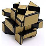 Fisher Cube 3X3 YJ Yileng Carbon Fiber Speed Magic Cube Puzzle Gold