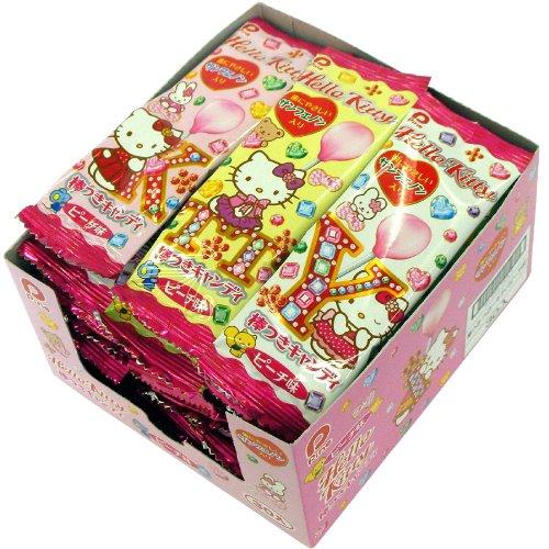 パイン 棒つきキャンディ ハローキティ(ピーチ味) 30本