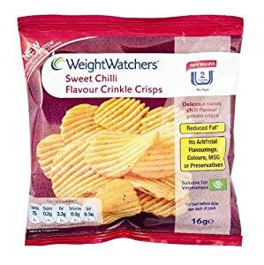 WeightWatchers Sweet Chilli Flavour Crinkle Crisps 16 g ...