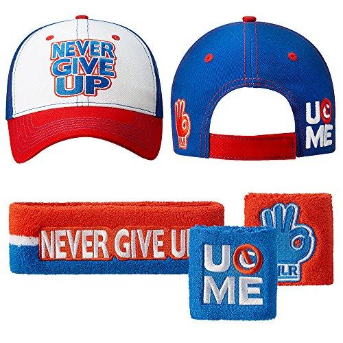 John Cena Never Give Up Baseball Hats Cap U Can't See Me Wristbands Sweatband