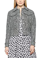 Michael Kors Chaqueta Fray Tweed Jean (Negro / Blanco)