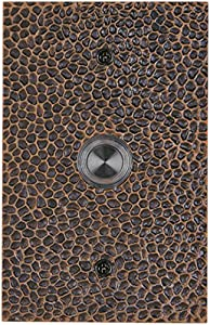 Waterwood WW013ORB Solid Brass Large Hammered Doorbell, Oil Rubbed Bronze
