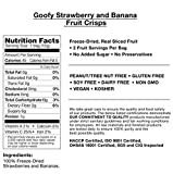 Brothers-ALL-Natural Goofy Crisps, Strawberry/Banana, 0.42 oz Pouches-0.42 oz, 12 ct