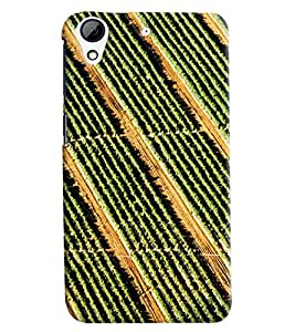 Blue Throat Grass Inspired Hard Plastic Printed Back Cover/Case For HTC Desire 728