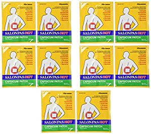 Salonpas Hot Capsicum Patch, 10 Count