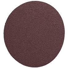 "3M  PSA Cloth Disc 348D, X Weight Cloth, PSA Attachment, Aluminum Oxide, 5"" Diameter, P100 Grit, Brown (Pack of 50)"