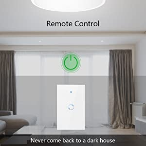 Smart light Switch by Sonoff | works with Alexa, Smart Home Devices Works with Google Home, 2.4G Wifi, No Hub is required, Easy installation, App and Voice control. (Gang 1) (Tamaño: T1 US 1C)