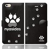 [iPhone6S 6 兼用 手帳型 ケース カバー] NYASIDES ニャシデス :A