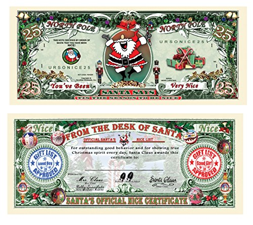 Set of 25-Santa's Official Naughty and Nice List Certificates-GIVE ONE OUT EACH DAY DURING CHRISTMAS - 1