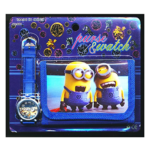 Despicable Me 2 1 Children's Watch Wallet Set For Kids Boys Girls Christmas Gift Gifts - Sold by Happy Bargains...