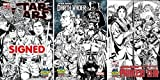 img - for Star Wars #1 (SIGNED with COA), Darth Vader #1 & Princess Leia #1 - Mark Brooks Limited Edition B&W Sketch Variant Cover Set book / textbook / text book
