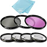 49mm 7PC Filter Set for Canon EOS M6, EOS M50, EOS M100 Mirrorless Digital Camera with EF 15-45mm Lens (Color: 7PC Filter Set)