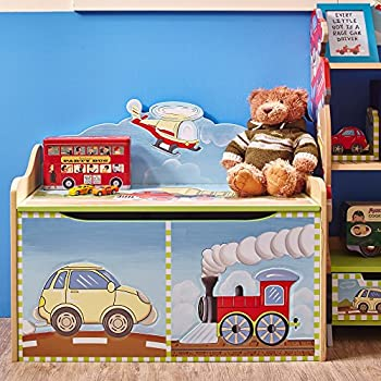 Kids Wooden Toy Chest with Safety Hinges Imagination Inspiring Hand Crafted