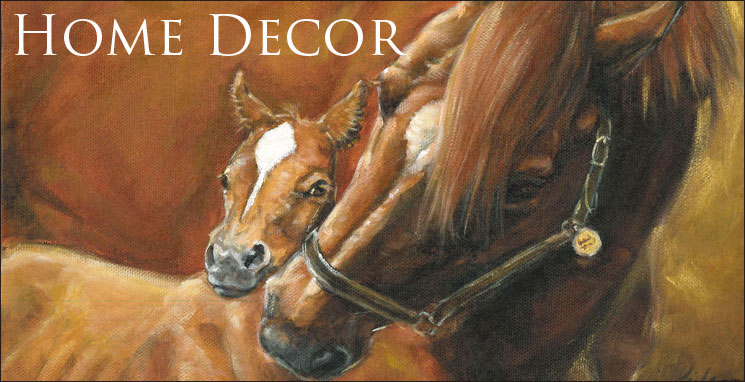 horse and foal painting home decor