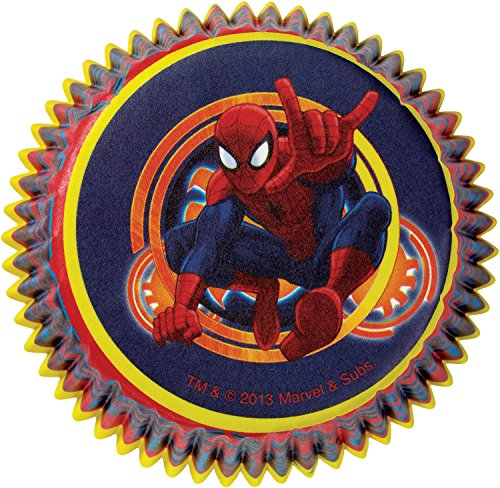 Spiderman Cupcake Baking Cups (50 Pack) - Party Supplies