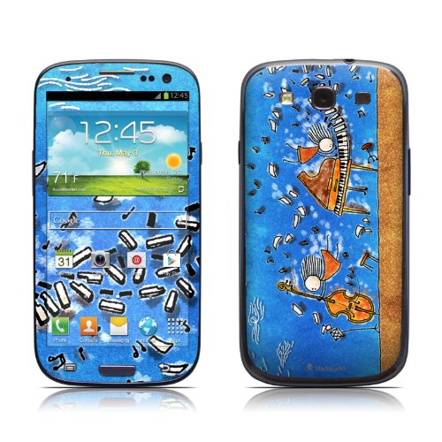Music is Power Design Protective Skin Decal Sticker for Samsung Galaxy S III / Galaxy S 3 GT-i9300 Cell Phone